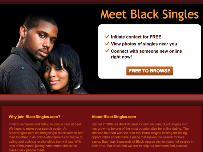 BlackSingles is the most active black singles community that permits  membership to black men and women as well as anybody who loves interracial  dating.